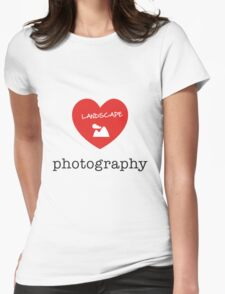 landscape photography Womens Fitted T-Shirt
