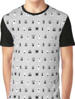 020216 - Shades of Grey, Black and White Graphic T-Shirt