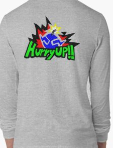 Wario Hurry Up Logo Long Sleeve T-Shirt