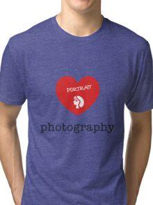 portrait photography Tri-blend T-Shirt