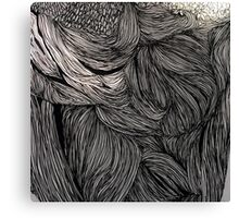 Growth of Bacteria, Ink Drawing Canvas Print