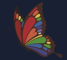 Colorful Rainbow Butterfly Baby Tee
