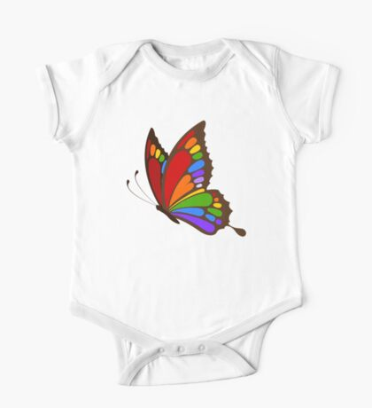 Colorful Rainbow Butterfly One Piece - Short Sleeve