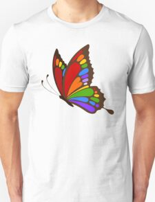 Colorful Rainbow Butterfly Unisex T-Shirt
