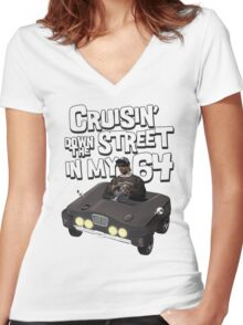 Cruisin Down The Street in my 64 Women's Fitted V-Neck T-Shirt