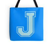 College Letterman J Tote Bag