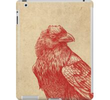 Red Raven  iPad Case/Skin
