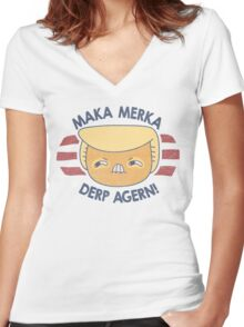 IZ DURNAL TURMP ERMAHGERD!! Women's Fitted V-Neck T-Shirt
