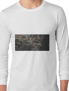 Shredded Plastic Design Long Sleeve T-Shirt
