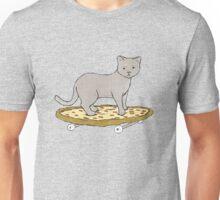 Cat on Pizza Skateboard  Unisex T-Shirt