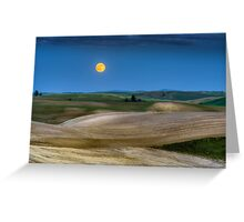 Strawberry Moon in the Palouse Greeting Card