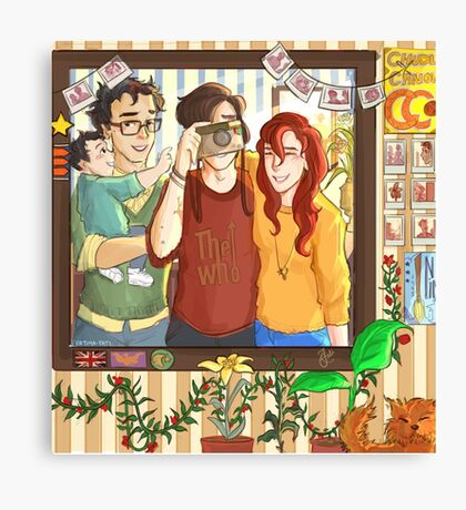 James, Lily & Sirius Canvas Print
