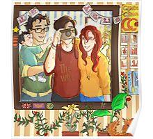 James, Lily & Sirius Poster
