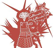 Caffeinate! Caffeinate! - Sticker by ClockworkRobot