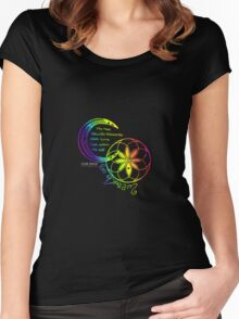 Rainbow Inspirational Dream Quote Women's Fitted Scoop T-Shirt