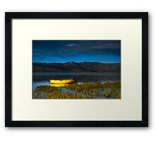The Patient Rowboat Framed Print