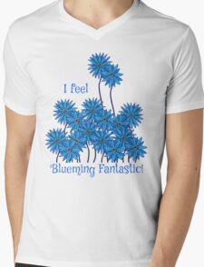 I Feel Blueming Fantastic Mens V-Neck T-Shirt