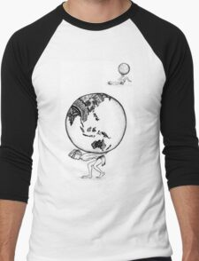 Weight of the World Men's Baseball ¾ T-Shirt