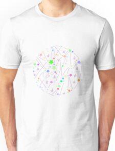 Star circle white Unisex T-Shirt