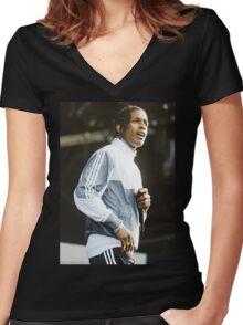 Asap Rocky Women's Fitted V-Neck T-Shirt