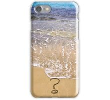question mark sign in sand beach iPhone Case/Skin