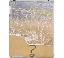 question mark sign in sand beach iPad Case/Skin