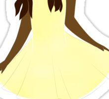 Girl in a Yellow Dress Sticker