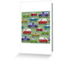 Animals In Cars Greeting Card