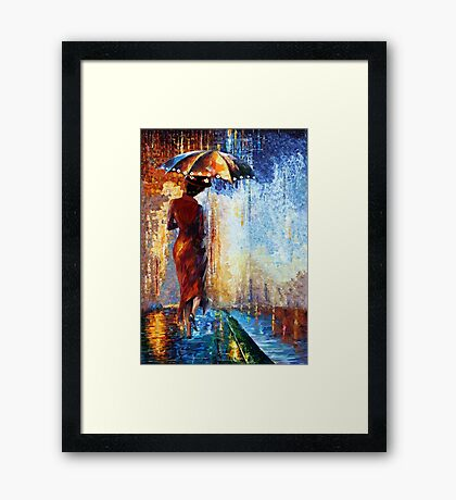 Mary the Umbrella Girl abstract art painting Framed Print