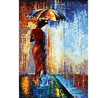 Mary the Umbrella Girl abstract art painting Photographic Print