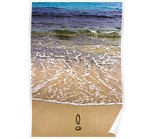 Exclamation point on the sand Poster
