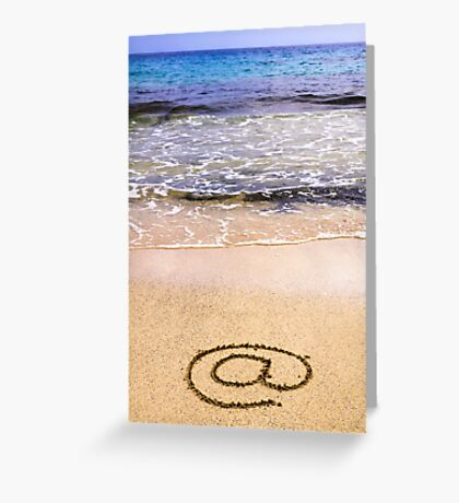 Email sign on sand Greeting Card