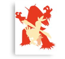 Pokemon - Torchic-Combusken-Blaziken Evolution Trio Canvas Print