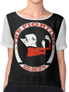 The Fighting Red Shirts with logo Chiffon Top