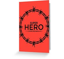 Hero Jesus Crown Thorns Razor Wire  Greeting Card