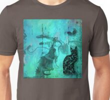 Three Cats, Two Mice On The Wall Unisex T-Shirt