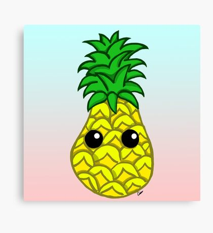 Cute Pineapple Canvas Print