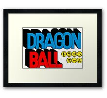 OG Dragon Ball Logo Framed Print