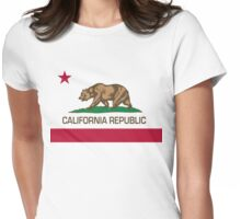 California Republic state flag Authentic version Womens Fitted T-Shirt