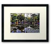 Jardin Majorelle Lily Pond Framed Print