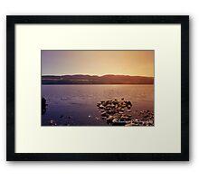 loch ness lake, Scotland Framed Print