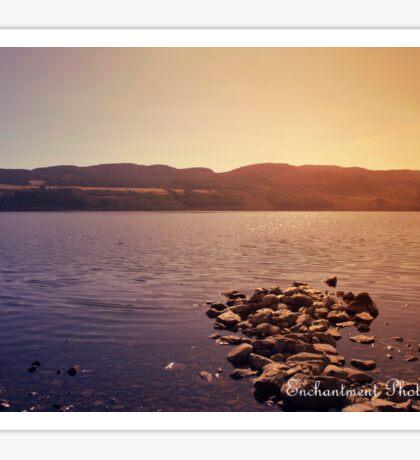 loch ness lake, Scotland Sticker