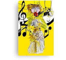 Musical Paper Doll and Flute  Canvas Print