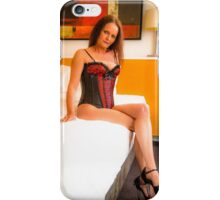 Red and black corset and g string. iPhone Case/Skin
