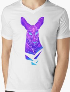 Vector roo midnight marsupial Mens V-Neck T-Shirt