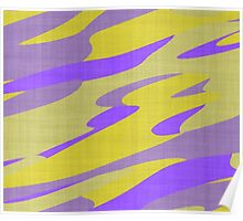 purple and yellow camo abstract Poster