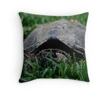Contentious Common Snapping Turtle Throw Pillow