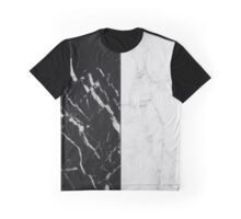 Black and White Marble Pattern Graphic T-Shirt