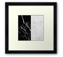 Black and White Marble Pattern Framed Print