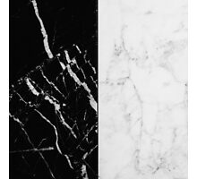 Black and White Marble Pattern Photographic Print